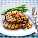 Grilled Pork Cutlets with Rosemary and Red Wine Vinegar