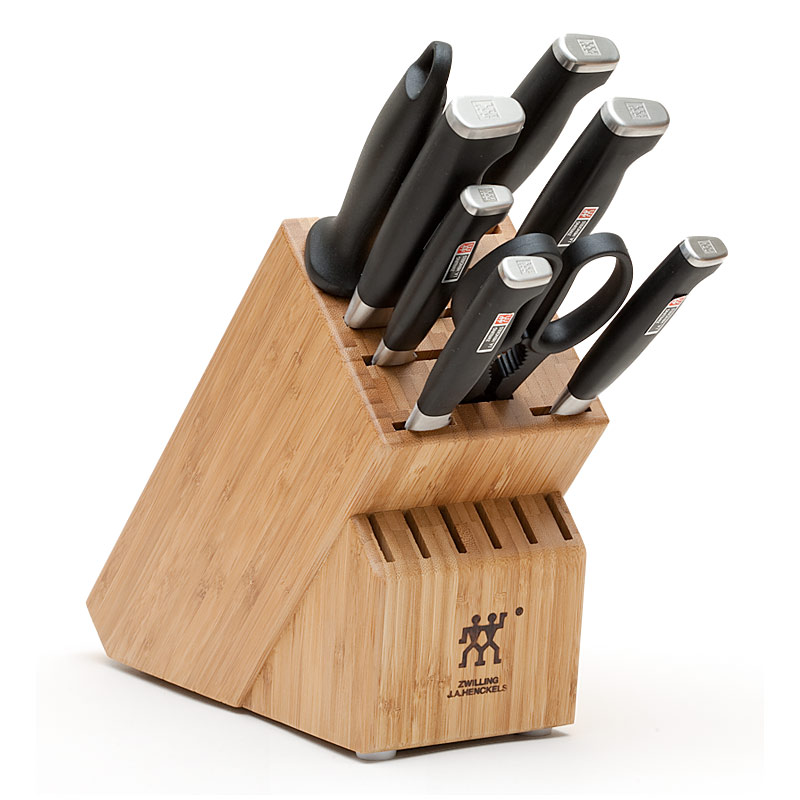 knife block sets review america s test kitchen case 7 piece kitchen knife block set
