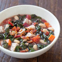 Tuscan White Bean and Pork Soup