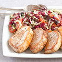 Pork Chops with Radicchio Slaw