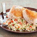 Chicken Breasts with Parsley-and-Tomato Couscous