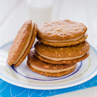 Peanut Butter Sandwich Cookies with Honey-Cinnamon Filling