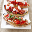 Tomato Bruschetta with Ricotta and Basil