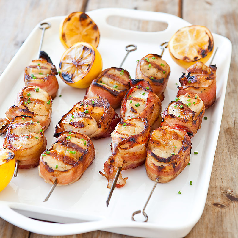 Grilled Bacon-Wrapped Scallops | America's Test Kitchen