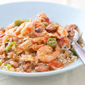 Reduced-Fat Sausage, Chicken, and Shrimp Gumbo