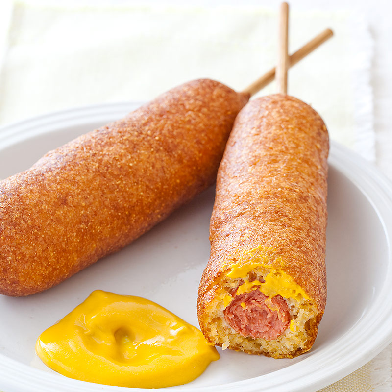 corn dogs and cheese on a stick hot dog on a stick copycat recipe 6 ...