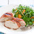 Grilled Cheesy Chicken Breasts with Prosciutto and Watercress-Apricot Salad