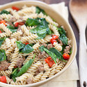 Spinach, Bell Pepper, and Sausage Pasta