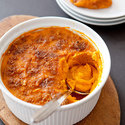 Sweet Potato Casserole with Bacon-Brown Sugar Topping