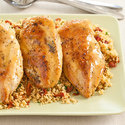 Maple-Dijon Chicken with Bacon Couscous