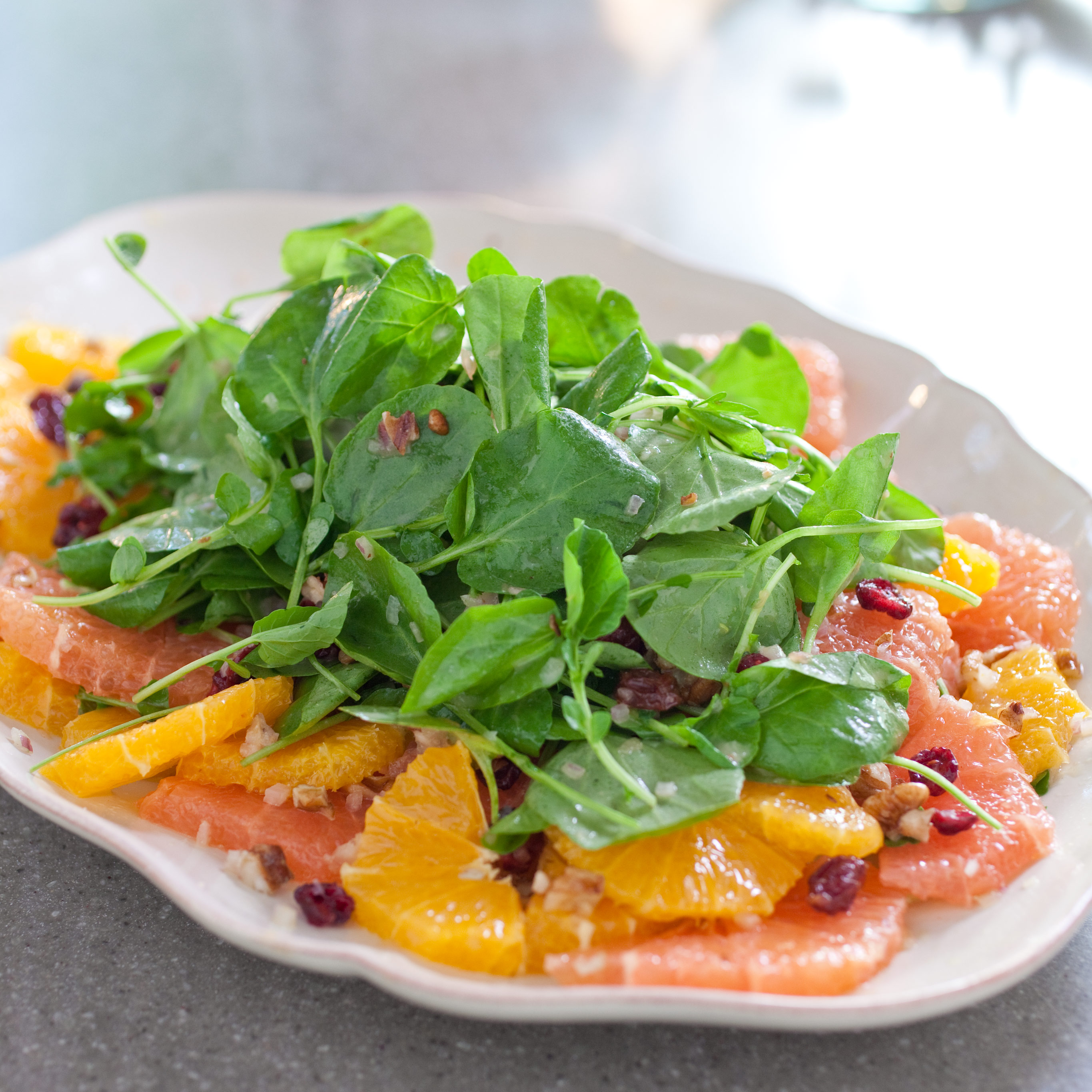 Citrus Salad With Watercress, Dried Cranberries, and Pecans Recipe ...