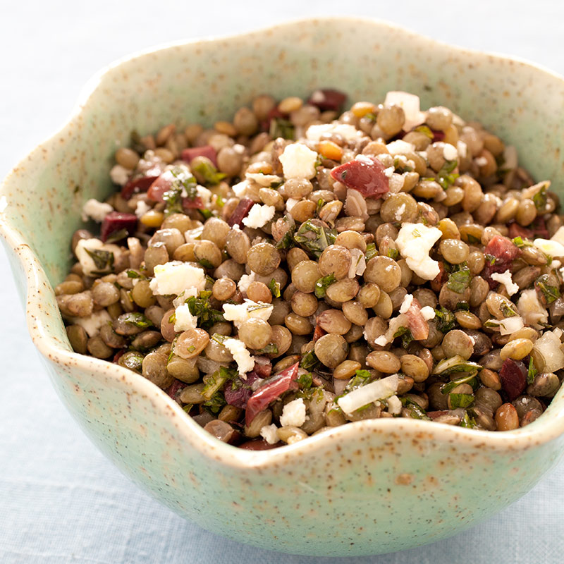 Lentil Salad with Olives, Mint, and Feta Recipe - Cook's Illustrated