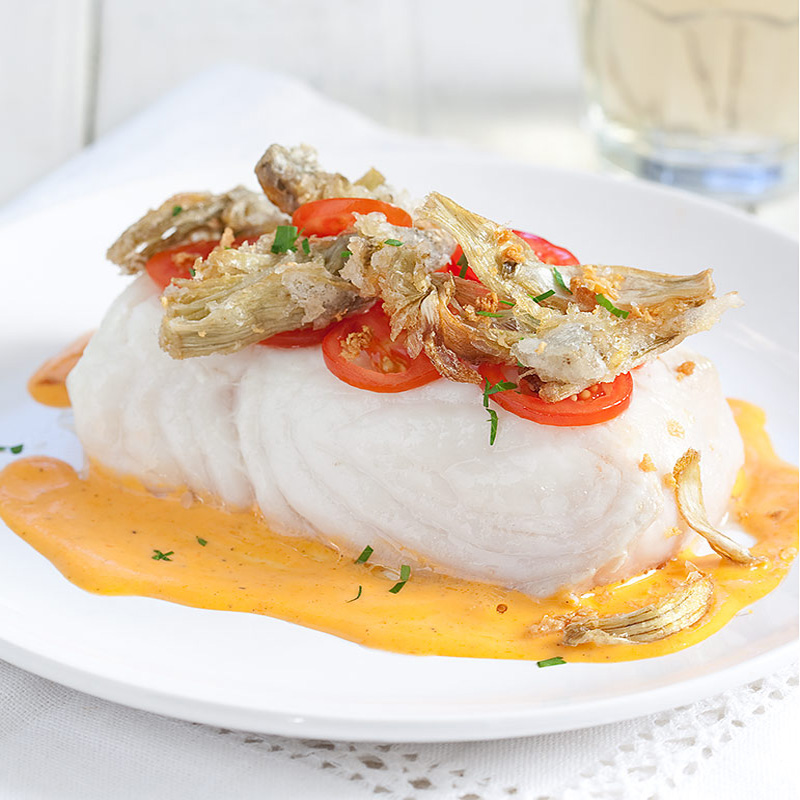 Poached fish fillets with sherry tomato vinaigrette recipe for Fillet fish recipe