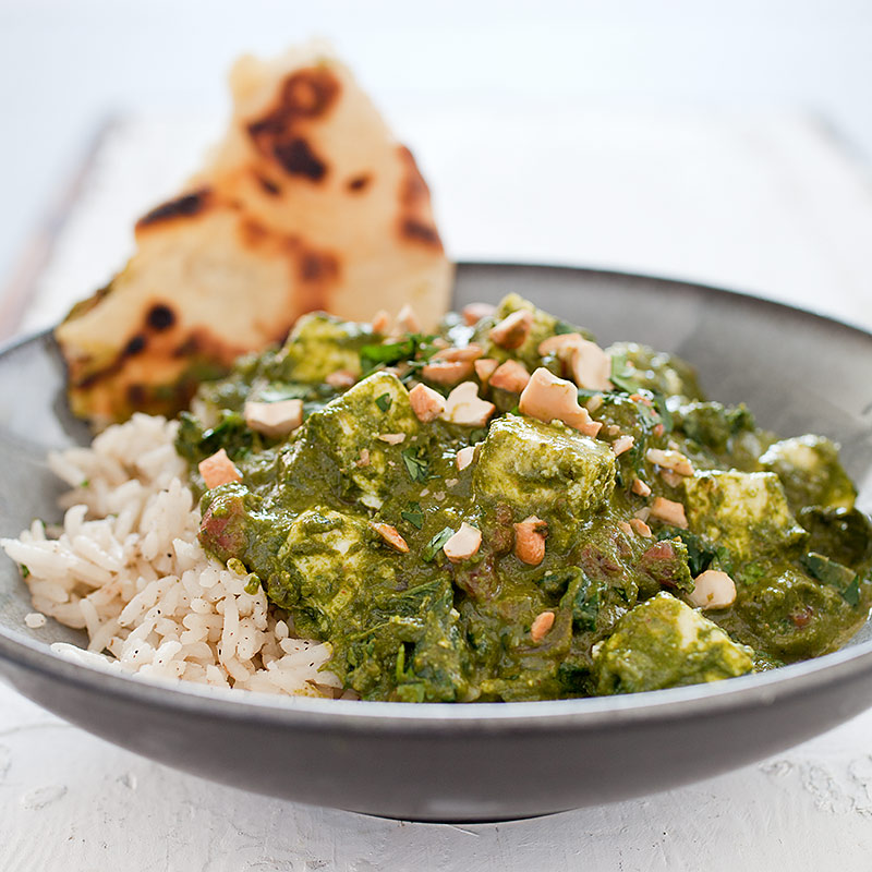 Indian-Style Spinach with Fresh Cheese (Saag Paneer) Recipe - America ...