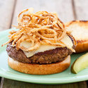 Indoor Burgers with Crispy Onions