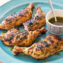 Grilled Chicken Leg Quarters with Lime Dressing