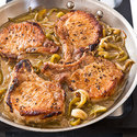 Pork Chops with Vinegar Peppers