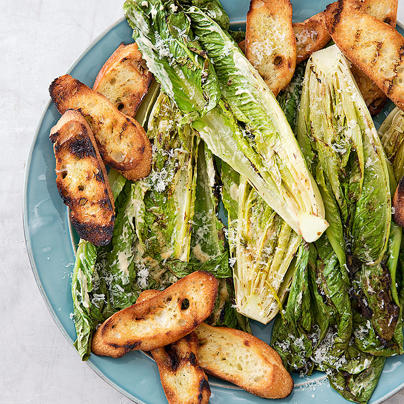 Grilled Caesar Salad Recipe — Dishmaps