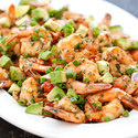 Seared Shrimp with Tomato, Lime, and Avocado