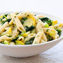 Farmers' Market Pasta with Leeks, Spinach, and Summer Squash