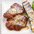 Grilled Pork Cutlets and Zucchini with Feta and Mint Compound Butter