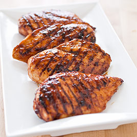 Grilled Glazed Boneless, Skinless Chicken Breasts Recipe - Cook's ...