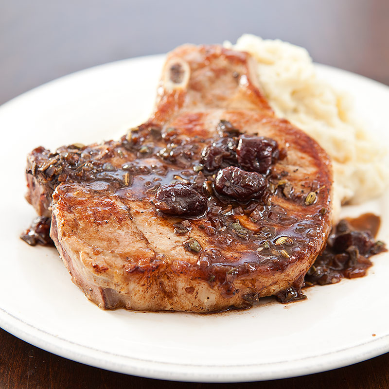 Pork Chops with Cherry Sauce Recipe - Cook's Country