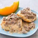 Reduced-Fat Biscuits and Sausage Gravy
