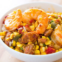 Maque Choux with Shrimp
