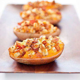 Twice Baked Sweet Potatoes With Ricotta Cheese Recipe ...