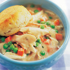 Skillet Chicken Pot Pie with Biscuit Topping