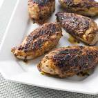 Charcoal-Grilled Bone-In Chicken Breasts
