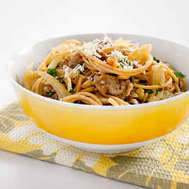 Whole-Wheat Spaghetti with Italian Sausage and Fennel Recipe - Cook's ...