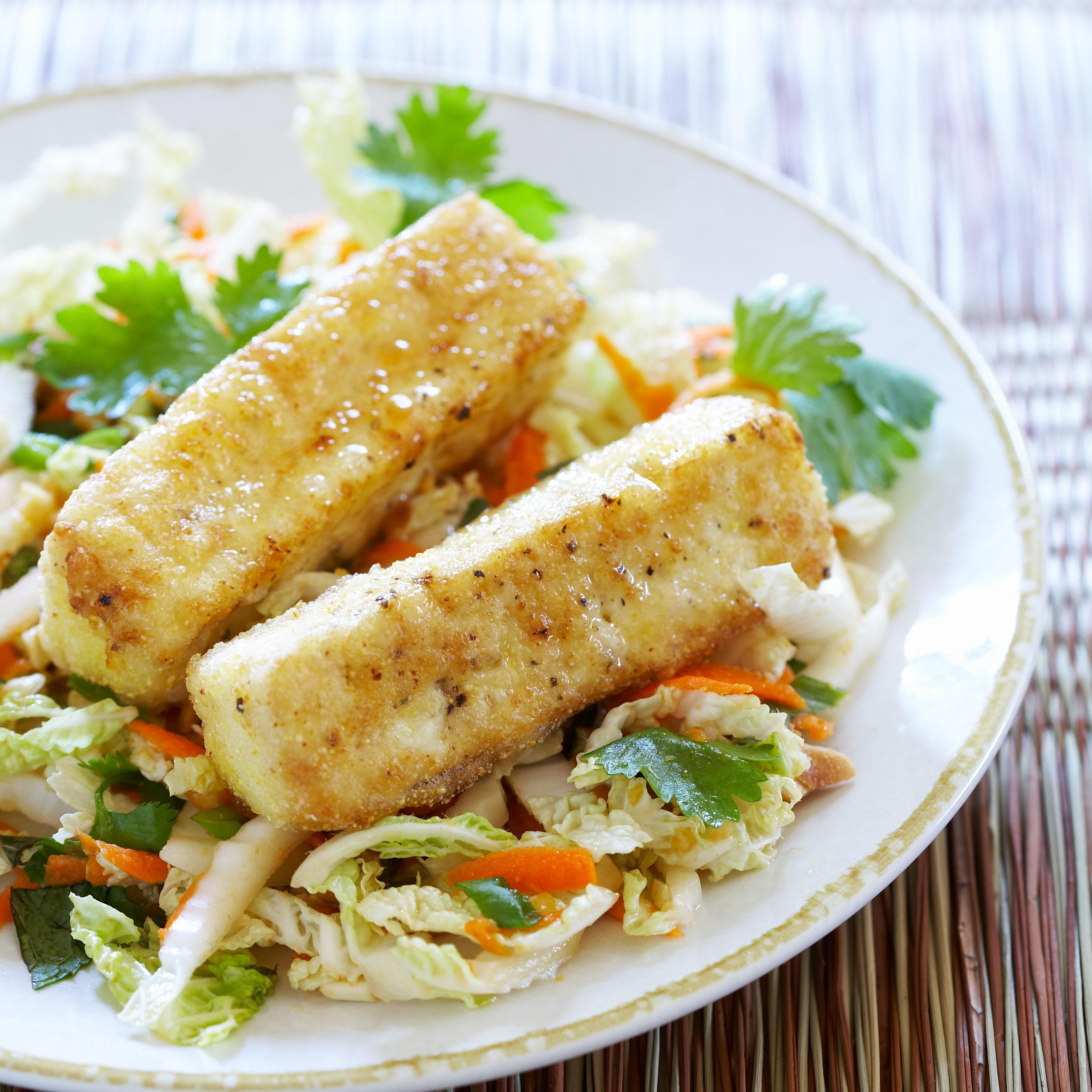 Warm Cabbage Salad with Crispy Tofu Recipe - Cook's Illustrated