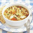 Hearty Chicken Soup with Shells, Tomatoes, and Zucchini
