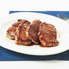 Glazed Pork Chops with German Flavors
