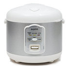 Sanyo Electric Rice Cooker & Steamer, Model ECJ-N55W, 5 1/2 cups