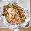 Chicken Baked in Foil with Fennel and Sun-Dried Tomatoes