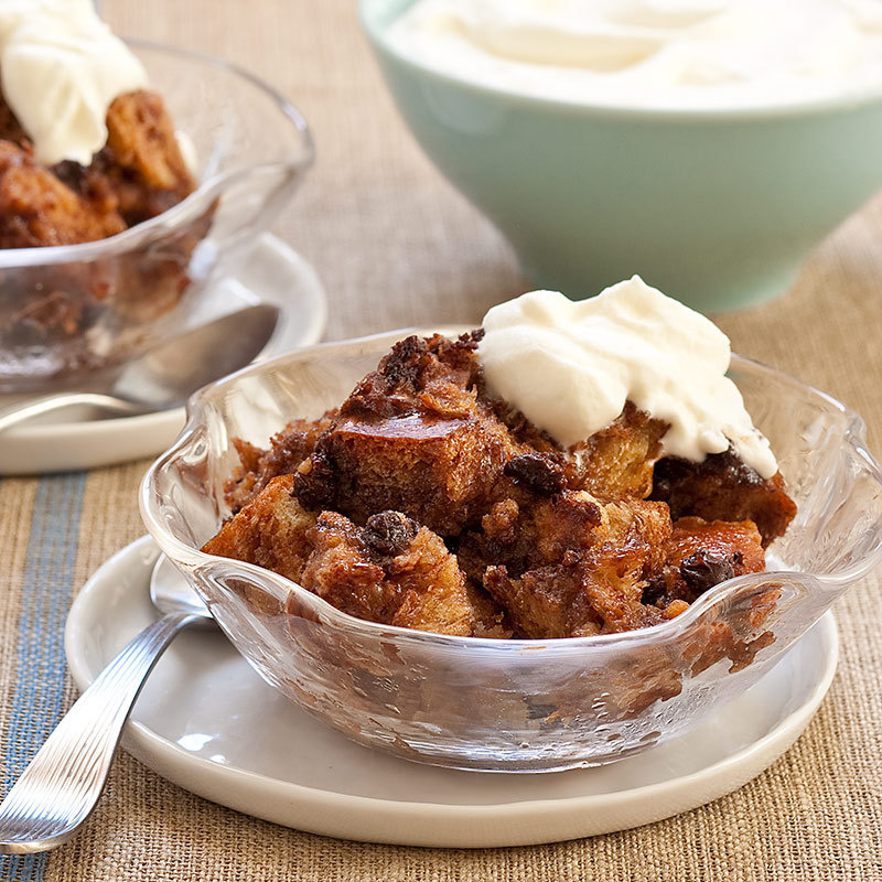 Slow-Cooker Chocolate-Hazelnut Bread Pudding