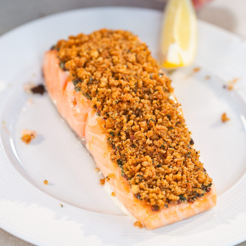 Herb Crusted Salmon America S Test Kitchen