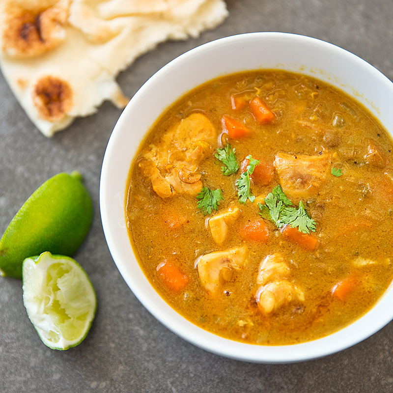 Slow-Cooker Chicken Mulligatawny Soup