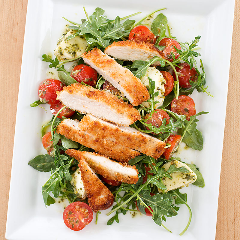 Barefoot Contessas Parmesan Chicken: Parmesan Chicken With Salad Recipe