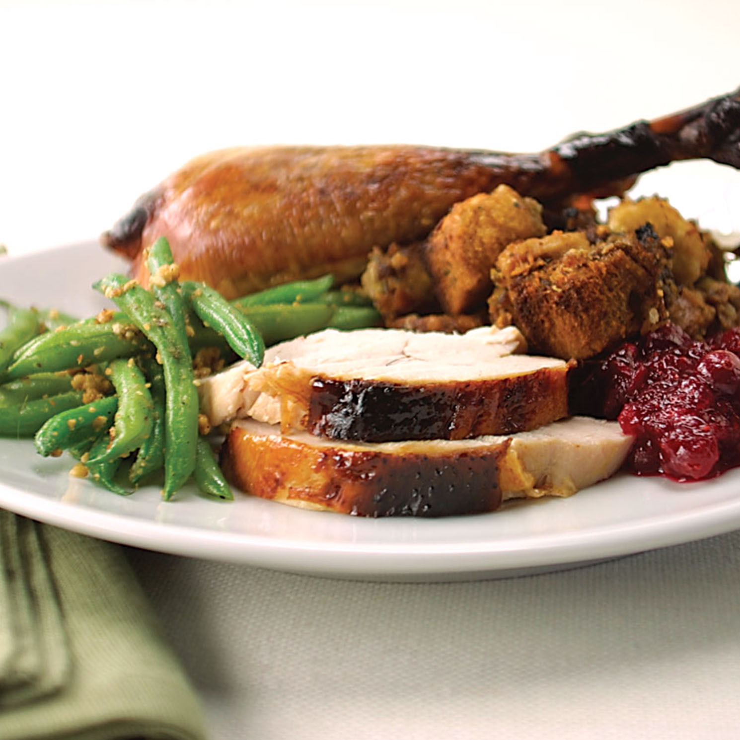 Crisp-Skin High-Roast Butterflied Turkey with Sausage Dressing