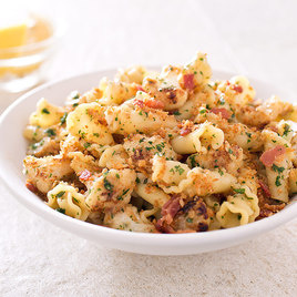 America S Test Kitchen Pasta With Cauliflower Bacon And Bread Crumbs