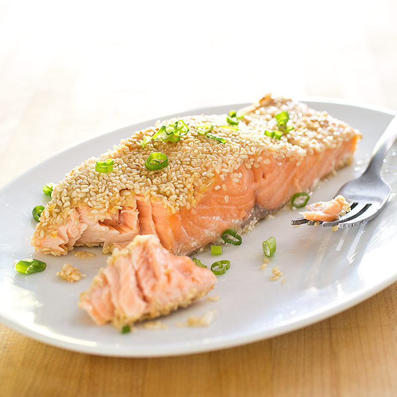 Sesame Crusted Salmon America S Test Kitchen