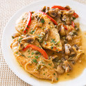 Chicken Scaloppini with Mushrooms and Peppers