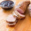 Pork Tenderloin with Cherry Glaze