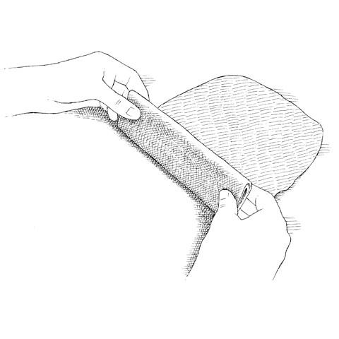 Fold into Flat Roll
