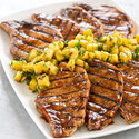 Grilled Hoisin-Glazed Pork Chops with Pineapple Salsa