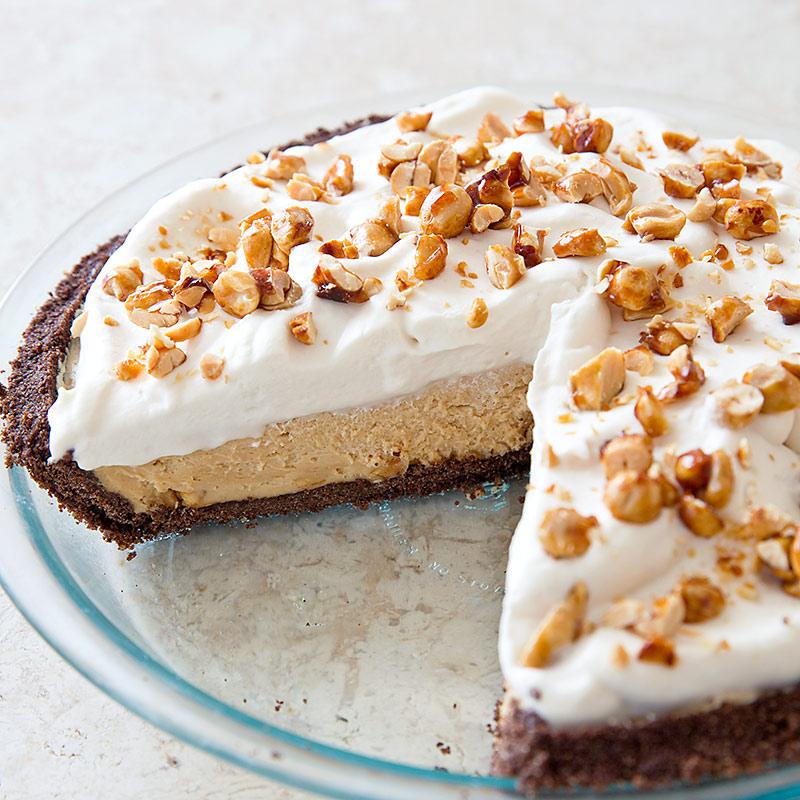 Peanut Butter Pie with Chocolate Graham Crust
